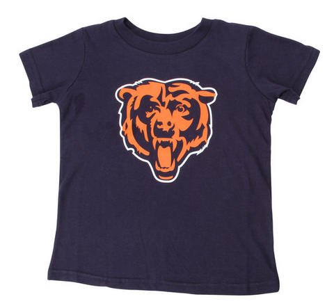 Chicago Bears Team Logo Toddler Tee By Outerstuff
