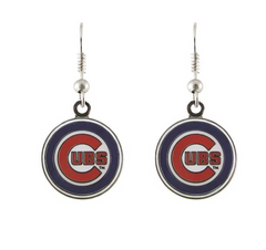 Chicago Cubs Logo J-Hook Earrings By PSG - Pro Jersey Sports