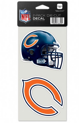 "Chicago Bears 2 Pack 4""X4"" Perfect Cut Decal By Wincraft - Pro Jersey Sports"