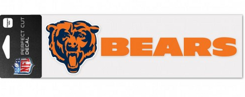 "Chicago Bears 3""X10"" Perfect Cut Decal By Wincraft"