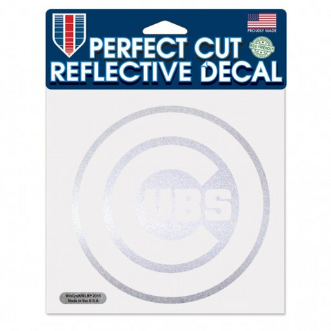 Chicago Cubs Reflective 6X6 Perfect Cut Decal By Wincraft