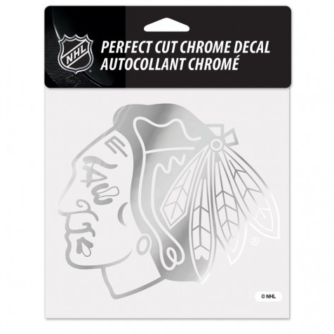 Chicago Blackhawks Chrome 6X6 Perfect Cut Decal By Wincraft