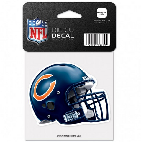 Chicago Bears Perfect Cut 4X4 Decal By Wincraft - Pro Jersey Sports