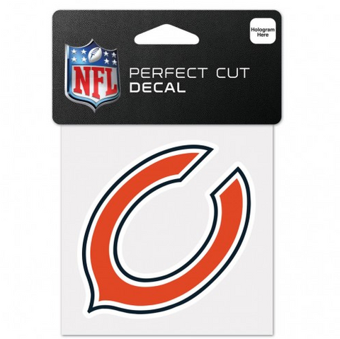 Chicago Bears Bear Logo Perfect Cut 4X4 Decal By Wincraft