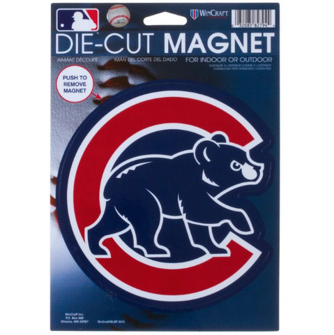 "WinCraft Chicago Cubs 6"" Die Cut Magnet - Pro Jersey Sports"