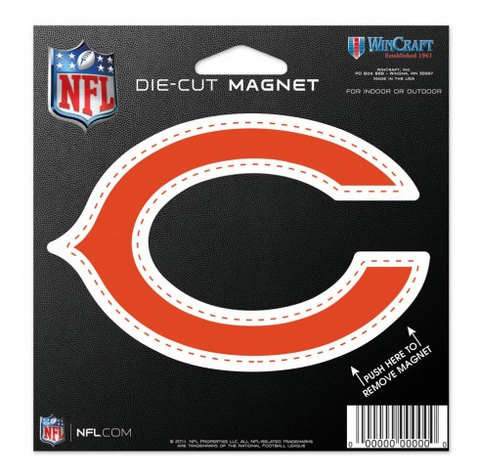 "Chicago Bears 4""X4"" Die Cut Magnet By Wincraft"