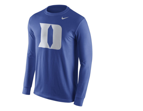 Duke Blue Devils Long Sleeve Nike Tee