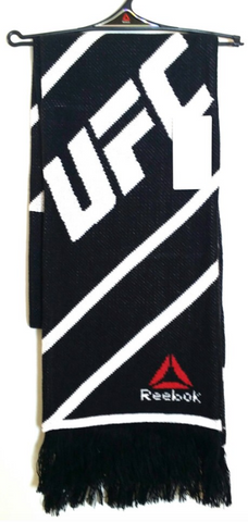 UFC Limited Fashion Protect Scarf Black White Beanie Toque Knit By Reebok - Pro Jersey Sports - 1