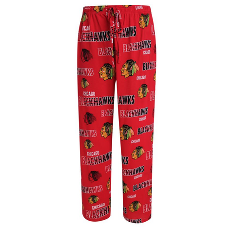 Chicago Blackhawks Mens Sweep Printed Pajama Pants By Concepts Sport - Pro Jersey Sports