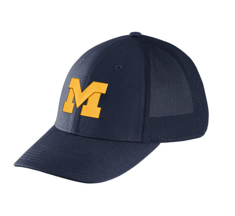 Michigan Wolverines Performance L91 Mesh Back Swoosh Flex Hat