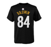 Youth Pittsburgh Steelers Antonio Brown Black Mainliner Name & Number T-Shirt - Pro Jersey Sports - 3