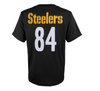 Youth Pittsburgh Steelers Antonio Brown Black Mainliner Name & Number T-Shirt - Pro Jersey Sports - 2