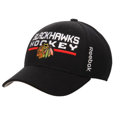 "Chicago Blackhawks ""Hockey"" Center Ice Flex Fit Hat"