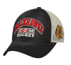 CCM Chicago Blackhawks Black Trucker Meshback Adjustable Snapback Hat - Pro Jersey Sports - 1