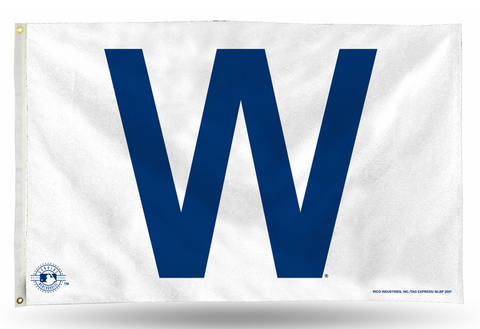 Chicago Cubs 3' X 5' W Flag By Rico - Pro Jersey Sports