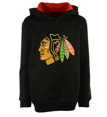 Youth Chicago Blackhawks Prime Basic Pullover Hoodie By Reebok