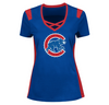 Chicago Cubs Womens Draft Me Short Sleeve Criss-Cross Deep V-Neck Tee - Pro Jersey Sports - 1