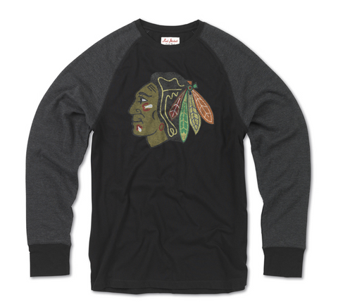Chicago Blackhawks Mens Fremont Long Sleeve Tee By Red Jacket