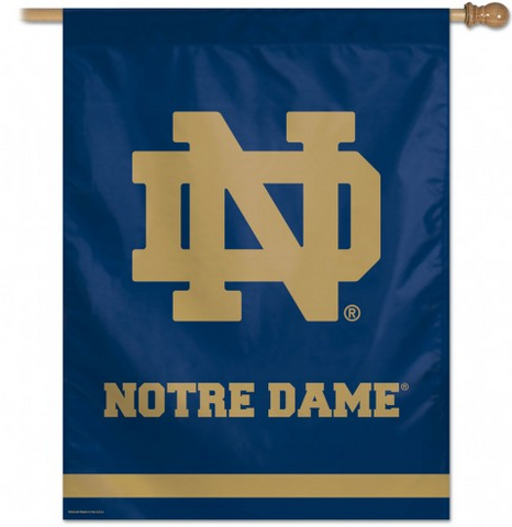 Notre Dame Fighting Irish Deluxe 37X37 Vertical Flag By Wincraft