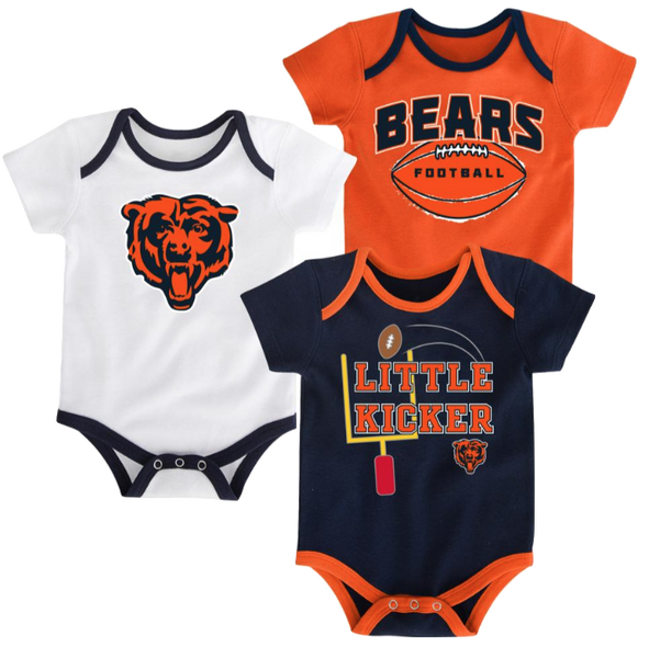 Chicago Bears Infant 3-Pack Tiny Fan Creepers – Pro Jersey ...