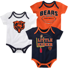 Chicago Bears Infant 3-Pack Tiny Fan Creepers - Pro Jersey Sports