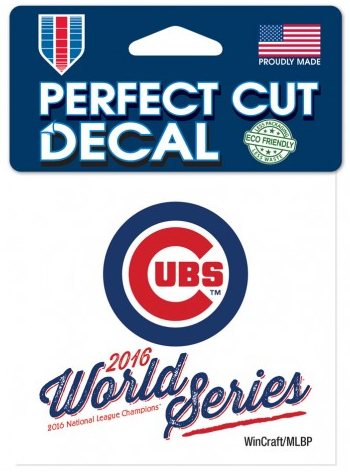 Chicago Cubs 2016 World Series 4X4 Perfect Cut Decal By Wincraft - Pro Jersey Sports