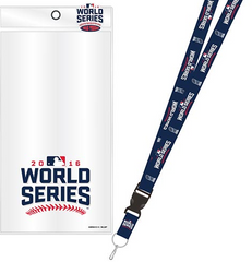 Chicago Cubs 2016 World Series Lanyard w/ Ticker Holder and Souvenir Pin - Pro Jersey Sports
