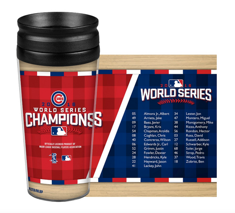 Chicago Cubs 2016 World Series Champions 14 OZ. Roster Tumbler