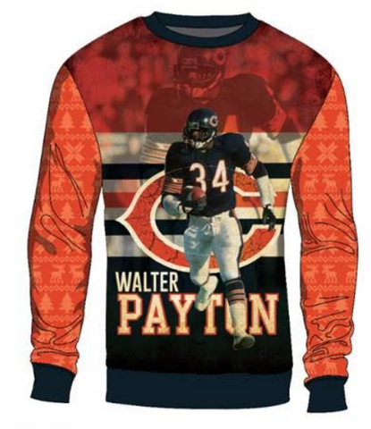 Walter Payton Chicago Bears Printed Sweater By Team Beans