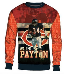 Walter Payton Chicago Bears Printed Sweater By Team Beans - Pro Jersey Sports - 1