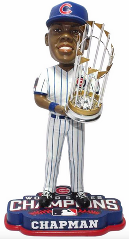 2016 World Series Champions Chicago Cubs Aroldis Chapman Bobblehead By Forever Collectibles