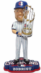 2016 World Series Champions Chicago Cubs Ben Zobrist Bobblehead By Forever Collectibles