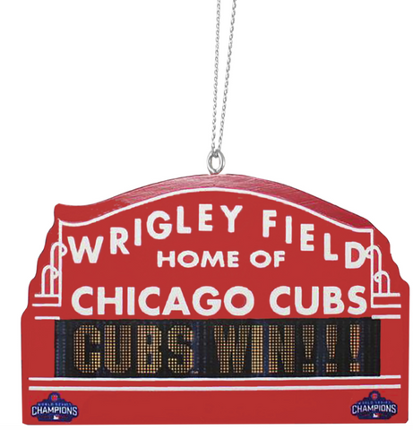 Chicago Cubs 2016 World Series Champions Marquee Ornament By Forever Collectibles