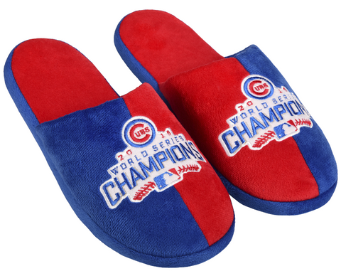 Chicago Cubs 2016 World Series Champions Logo Slide Slippers By Forever Collectibles