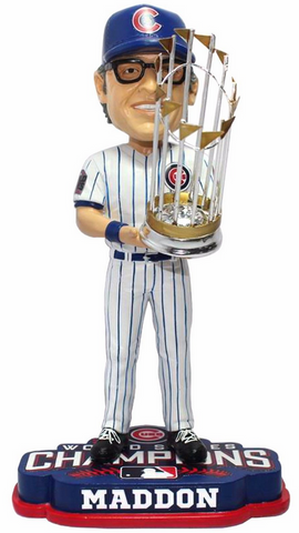 2016 World Series Champions Chicago Cubs Joe Maddon Bobblehead By Forever Collectibles