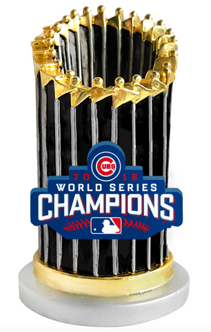Chicago Cubs 2016 World Series Champions Trophy Paperweight By Forever Collectibles