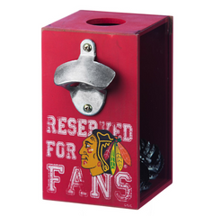 Chicago Blackhawks NHL Bottle Opener Cap Caddy by Evergreen Enterprises, Inc - Pro Jersey Sports