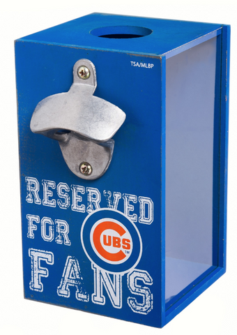 Chicago Cubs Bottle Opener Cap Caddy by Evergreen Enterprises, Inc - Pro Jersey Sports