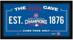 Chicago Cubs 2016 World Series Champions Framed 6x12 Kids Cave Sign - Pro Jersey Sports