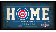Chicago Cubs 2016 World Series Champions Framed 6x12 Home Sweet Home Sign - Pro Jersey Sports