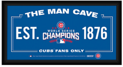 Chicago Cubs 2016 World Series Champions Framed 6x12 Man Cave Sign - Pro Jersey Sports