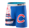 Men's Chicago Cubs Basilone Tie Dye Fitted Boxer Briefs, Team Color-Stance - Pro Jersey Sports - 1