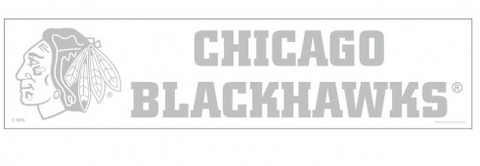 Chicago Blackhawks 4X16 Clear Perfect Cut Decal By Wincraft