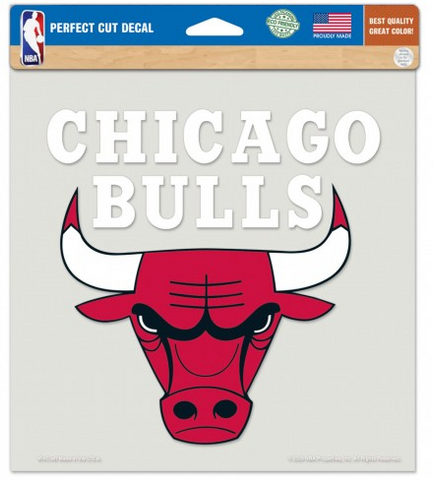Chicago Bulls 8X8 Perfect Cut Decal By Wincraft