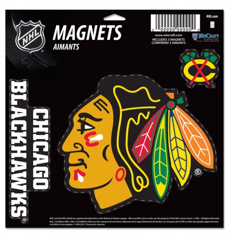 Chicago Blackhawks 11X11 3 Pack Magnet Sheet By Wincraft - Pro Jersey Sports