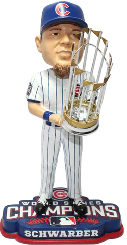 2016 World Series Champions Chicago Cubs Kyle Schwarber Bobblehead By Forever Collectibles