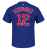Youth MLB Chicago Cubs Kyle Schwarber Majestic Royal Name & Number T-Shirt