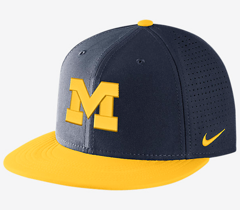 Michigan Wolverines Navy DF Vapor Snap Adjustable Hat By Nike