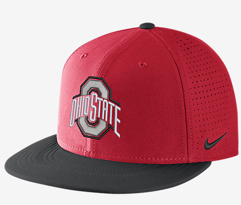 Ohio State Buckeyes Red DF Vapor Snap Adjustable Hat By Nike