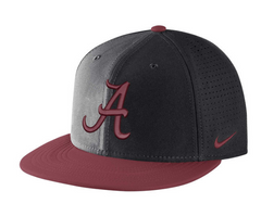 Alabama Crimson Tide Black DF Vapor Snap Adjustable hat By Nike